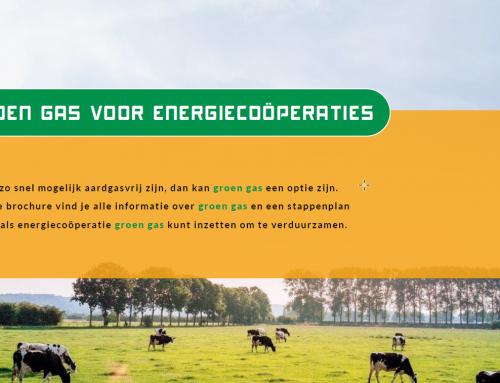 Groen gas brochure voor energiecoöperaties